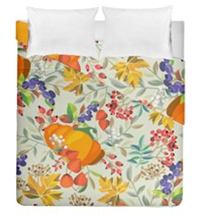 Autumn Flowers Pattern 11 Duvet Cover Double Side (queen Size) by tarastyle
