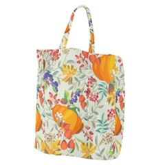 Autumn Flowers Pattern 11 Giant Grocery Zipper Tote by tarastyle