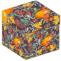 Autumn Flowers Pattern 12 Storage Stool 12   by tarastyle