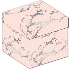 Luxurious Pink Marble 1 Storage Stool 12   by tarastyle