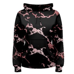 Luxurious Pink Marble 2 Women s Pullover Hoodie by tarastyle