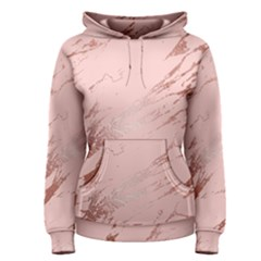 Luxurious Pink Marble 3 Women s Pullover Hoodie by tarastyle