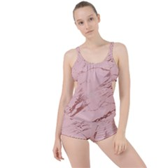 Luxurious Pink Marble 3 Boyleg Tankini Set