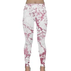 Luxurious Pink Marble 4 Classic Yoga Leggings by tarastyle