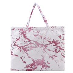 Luxurious Pink Marble 4 Zipper Large Tote Bag by tarastyle