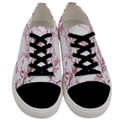Luxurious Pink Marble 4 Men s Low Top Canvas Sneakers