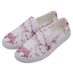 Luxurious Pink Marble 4 Men s Canvas Slip Ons by tarastyle
