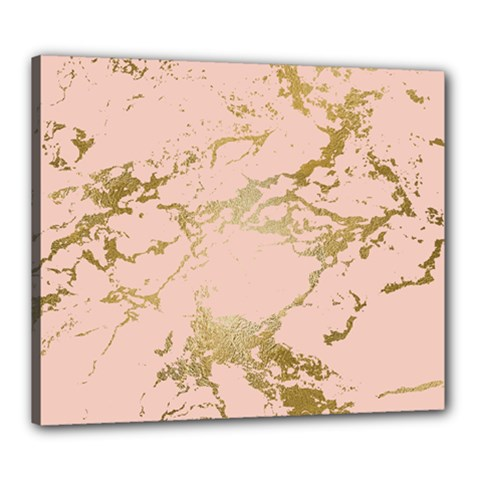 Luxurious Pink Marble 5 Canvas 24  X 20  by tarastyle