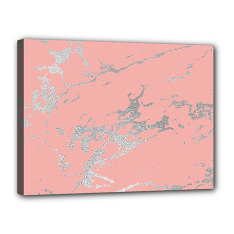 Luxurious Pink Marble 6 Canvas 16  X 12  by tarastyle