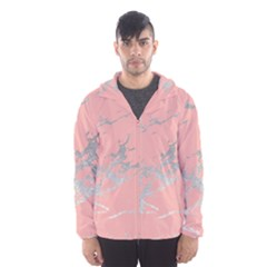 Luxurious Pink Marble 6 Hooded Wind Breaker (men)