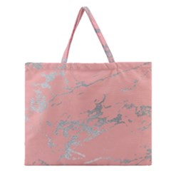 Luxurious Pink Marble 6 Zipper Large Tote Bag by tarastyle