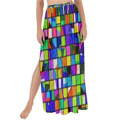Colorful Squares Pattern                           Maxi Chiffon Tie-up Sarong by LalyLauraFLM
