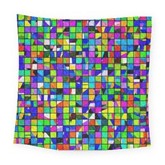 Colorful Squares Pattern                            Square Tapestry by LalyLauraFLM