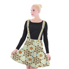 Stars And Other Shapes Pattern                            Suspender Skater Skirt by LalyLauraFLM