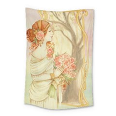Beautiful Art Nouveau Lady Small Tapestry by 8fugoso
