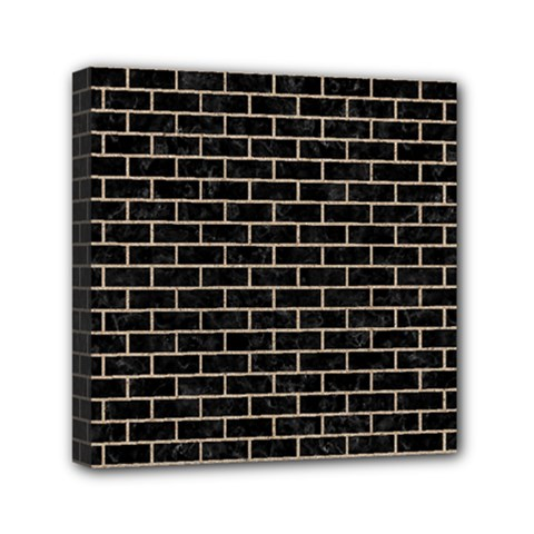 Brick1 Black Marble & Sand (r) Mini Canvas 6  X 6  by trendistuff