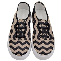 Chevron3 Black Marble & Sand Women s Classic Low Top Sneakers