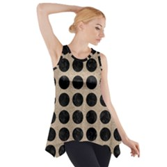Circles1 Black Marble & Sand Side Drop Tank Tunic by trendistuff