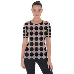 Circles1 Black Marble & Sand Short Sleeve Top by trendistuff