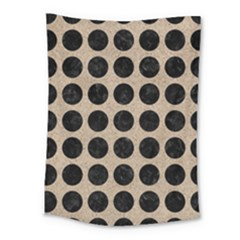 Circles1 Black Marble & Sand Medium Tapestry by trendistuff