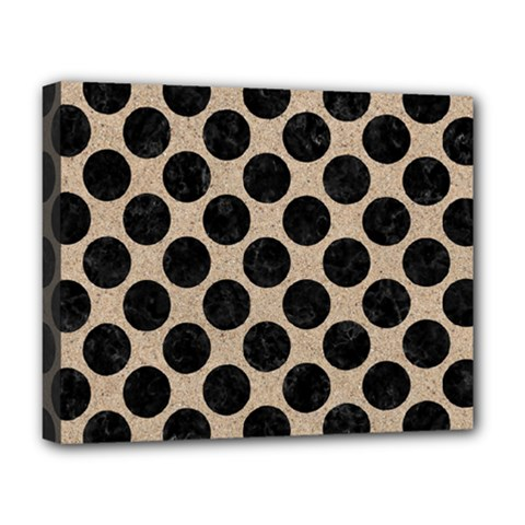 Circles2 Black Marble & Sand Deluxe Canvas 20  X 16   by trendistuff