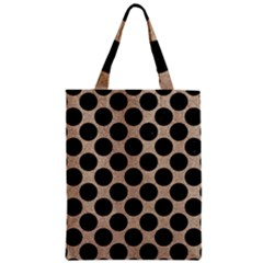 Circles2 Black Marble & Sand Zipper Classic Tote Bag by trendistuff