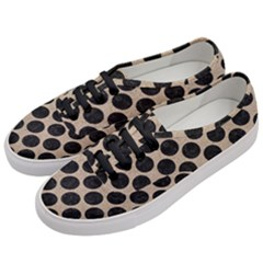Circles2 Black Marble & Sand Women s Classic Low Top Sneakers by trendistuff