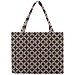 Circles3 Black Marble & Sand (r) Mini Tote Bag by trendistuff