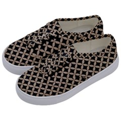 Circles3 Black Marble & Sand (r) Kids  Classic Low Top Sneakers by trendistuff