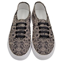 Damask2 Black Marble & Sand (r) Women s Classic Low Top Sneakers