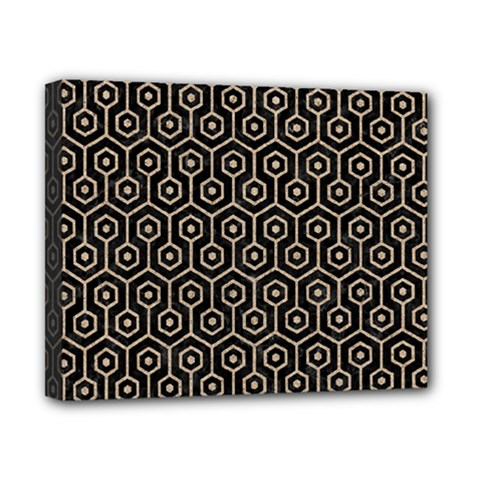 Hexagon1 Black Marble & Sand (r) Canvas 10  X 8  by trendistuff