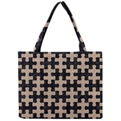 Puzzle1 Black Marble & Sand Mini Tote Bag by trendistuff