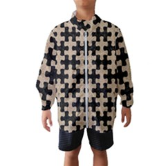 Puzzle1 Black Marble & Sand Wind Breaker (kids)