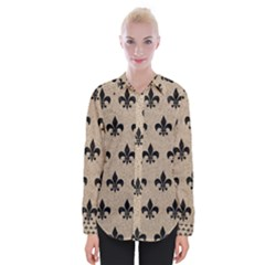 Royal1 Black Marble & Sand (r) Womens Long Sleeve Shirt by trendistuff