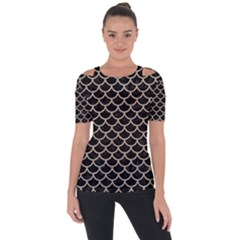 Scales1 Black Marble & Sand (r) Short Sleeve Top
