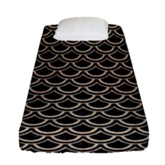 Scales2 Black Marble & Sand (r) Fitted Sheet (single Size) by trendistuff