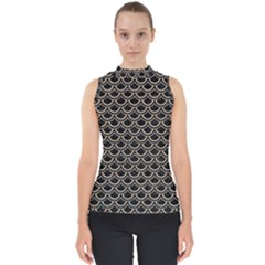 Scales2 Black Marble & Sand (r) Shell Top by trendistuff