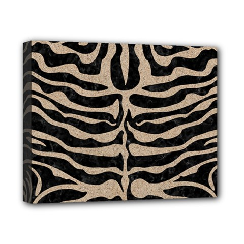 Skin2 Black Marble & Sand (r) Canvas 10  X 8  by trendistuff