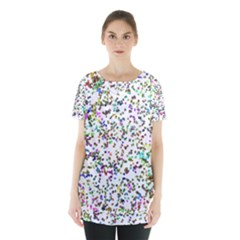 Paint On A White Background                                      Skirt Hem Sports Top