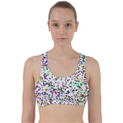Paint On A White Background                                     Back Weave Sports Bra