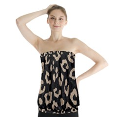 Skin5 Black Marble & Sand Strapless Top by trendistuff