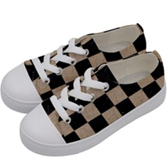 Square1 Black Marble & Sand Kids  Low Top Canvas Sneakers by trendistuff