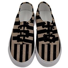 Stripes1 Black Marble & Sand Men s Classic Low Top Sneakers