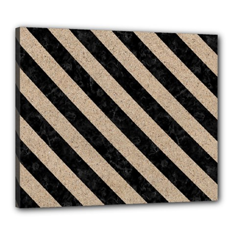 Stripes3 Black Marble & Sand Canvas 24  X 20  by trendistuff