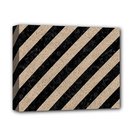 Stripes3 Black Marble & Sand (r) Deluxe Canvas 14  X 11  by trendistuff