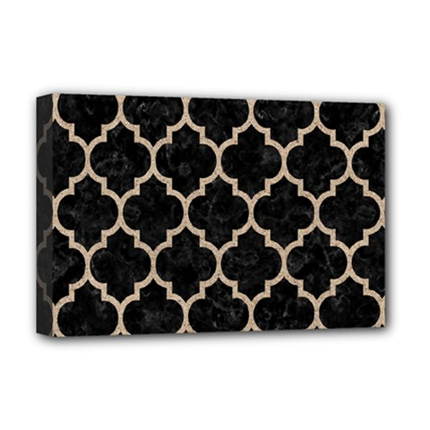 Tile1 Black Marble & Sand (r) Deluxe Canvas 18  X 12   by trendistuff