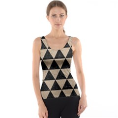 Triangle3 Black Marble & Sand Tank Top by trendistuff