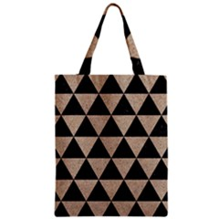 Triangle3 Black Marble & Sand Zipper Classic Tote Bag by trendistuff