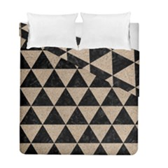 Triangle3 Black Marble & Sand Duvet Cover Double Side (full/ Double Size)