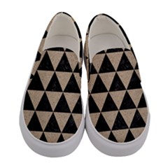 Triangle3 Black Marble & Sand Women s Canvas Slip Ons